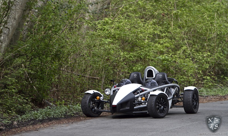 Ariel Atom Matte White Vinyl Wrap Powder Coat Seattle