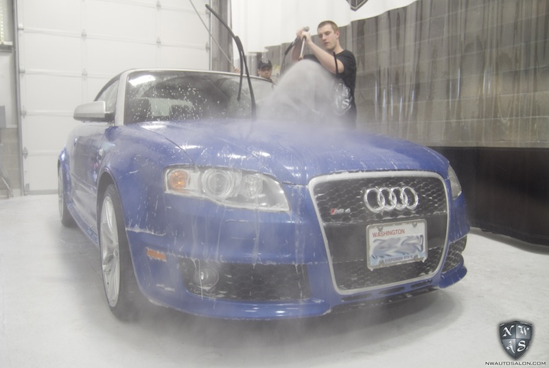 Audi RS4 Sprint Blue Convertible Paint Correction Auto Detailing