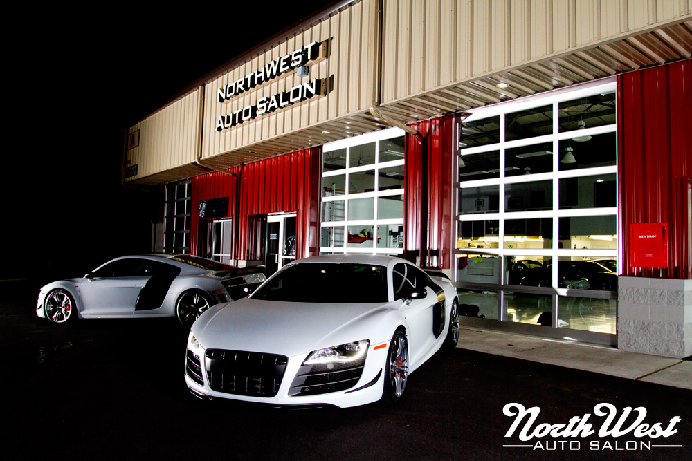 Two of a Kind: Twin Suzuka Grey R8 GTs at NWAS | NorthWest Auto Salon