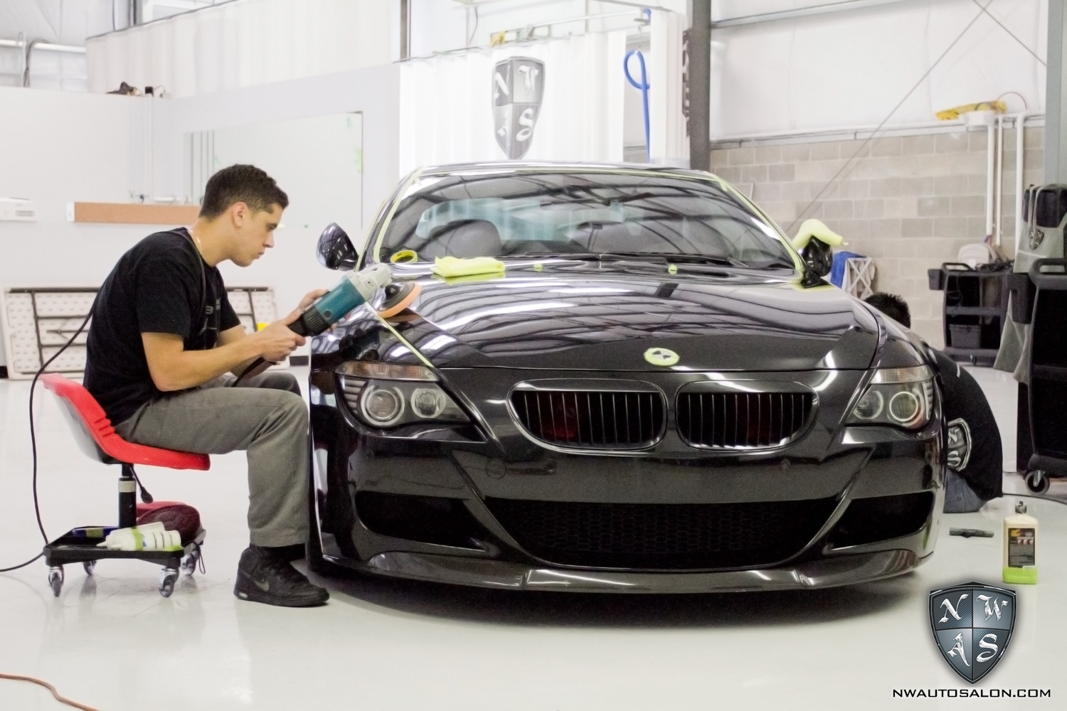 Alderwood Auto Detailing NorthWest Auto Salon BMW M6 Buffer Swirl