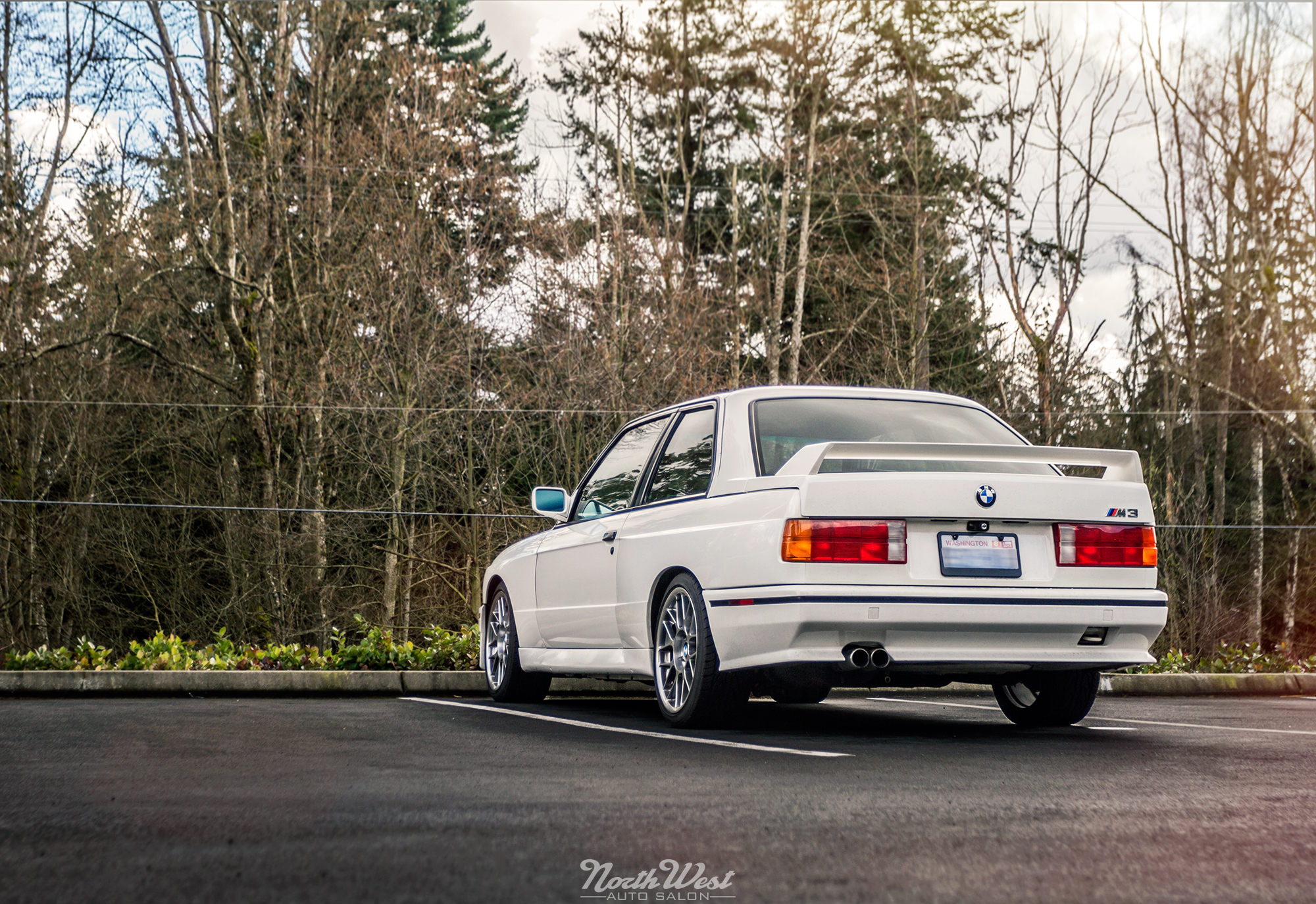 Wrapped Up Matte Silver Bmw E30 M3 With Red Accents At Nwas Northwest Auto Salon