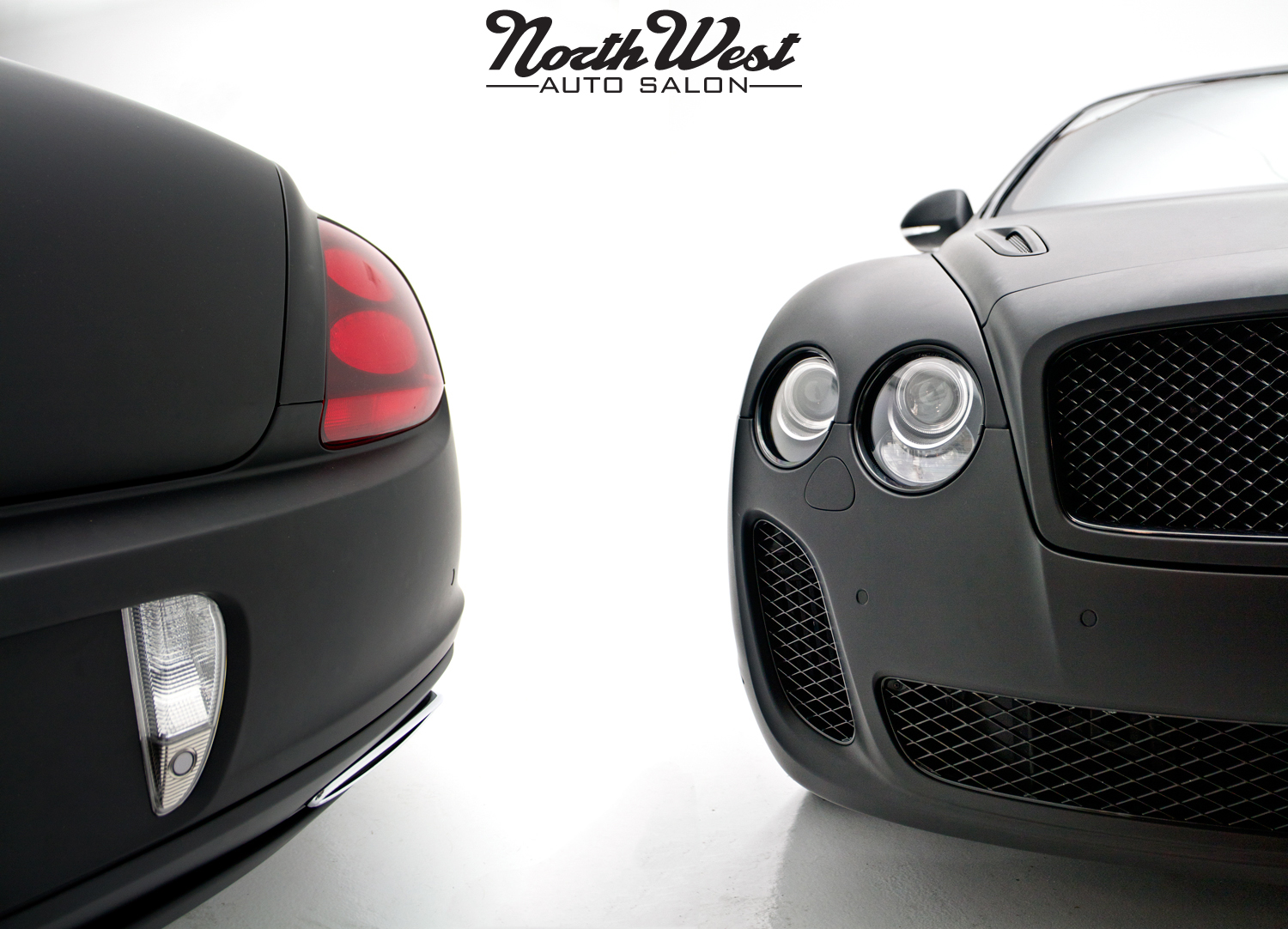 NWAS Seattle vehicle wrapping Bentley Supersports matte black