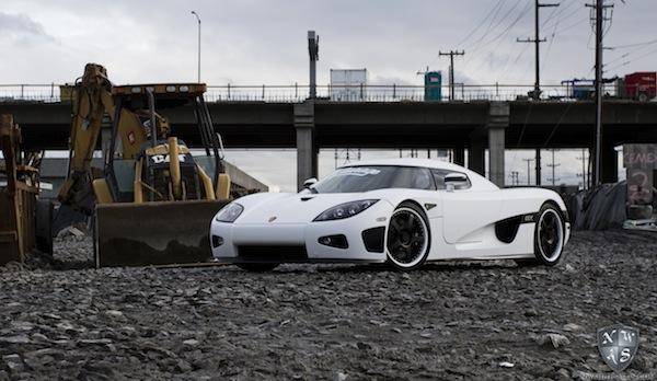 Supercar matte white wrap Koenigsegg HRE wheels window tint NorthWest Auto Salon
