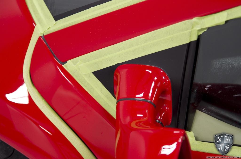 Red Lamborghini Diablo 6 0 Connoisseur Detail Leather Restoration Northwest Auto Salon