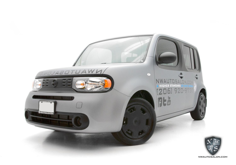 Lynnwood Auto Detailing NorthWest Auto Salon Nissan Cube Matte Wrap Custom Graphics