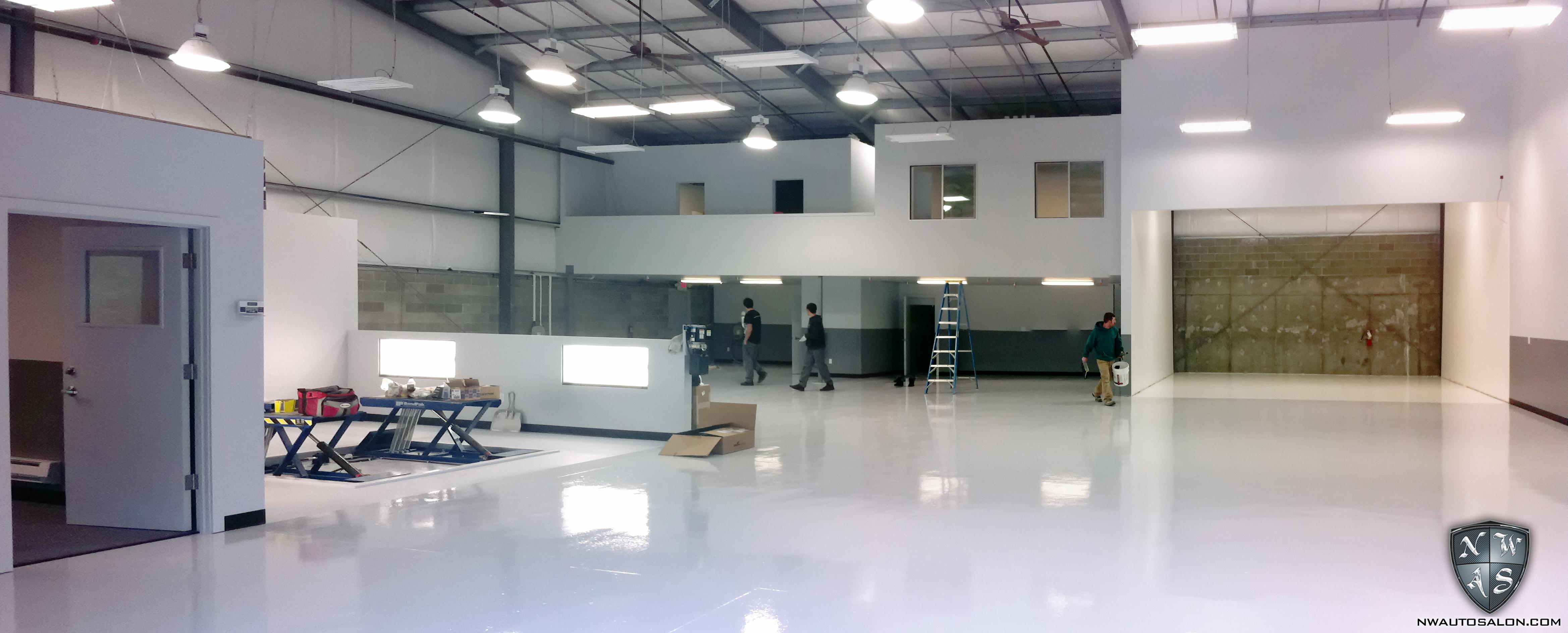 final build progress photos of northwest auto salon s new. Black Bedroom Furniture Sets. Home Design Ideas