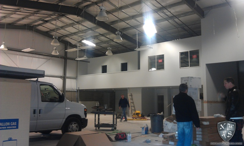 New Facility Shop NorthWest Auto Salon Lynnwood Washington Build Progress