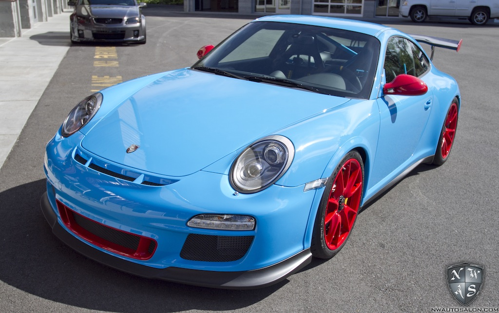 Riviera Blue Porsche GT3 RS Pictures Clear Bra Wrap