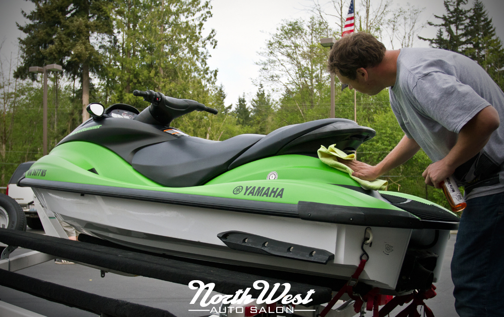 NWAS Seattle Boat Graphics Watercraft Wrap Matte Green