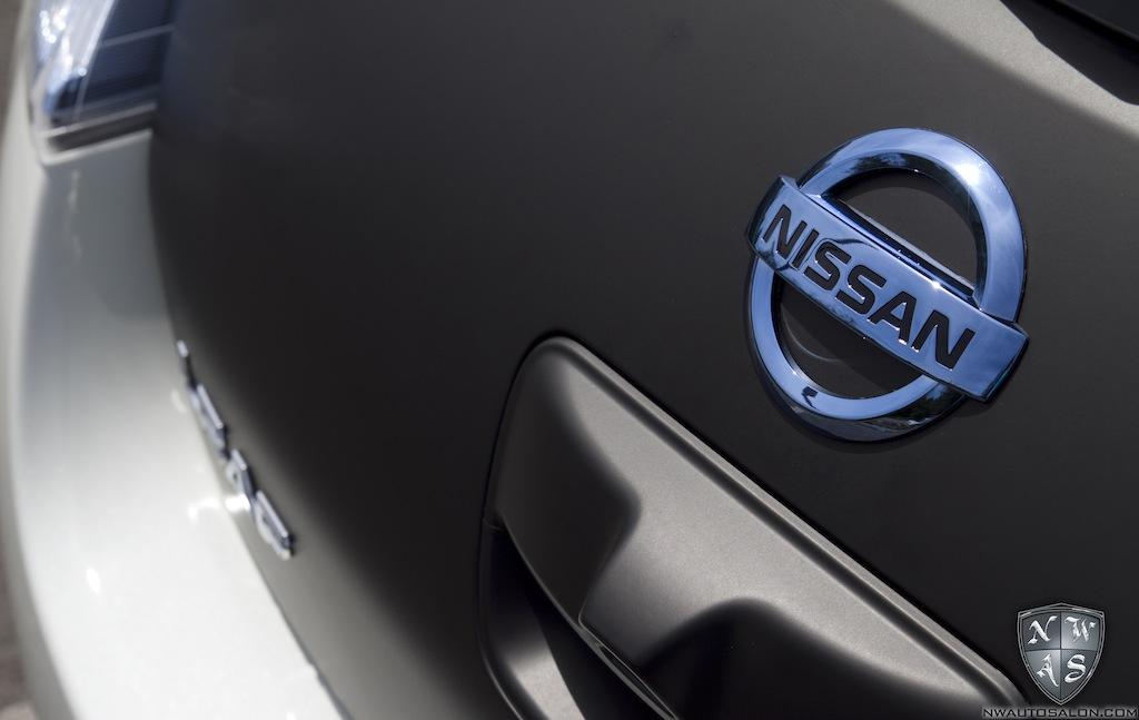 Nissan Leaf Gets Matte Black Vinyl Wrap